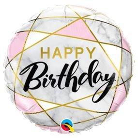 בלון מיילרq18מלבני שיש יום הולדת 1יח