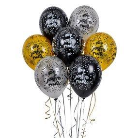 بالون طباعه  יום הולדת שמח 50 قطعه