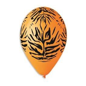بالون gs120 مع طباعة نمر برتقالي 50 وحدة
