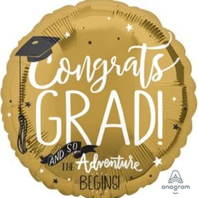 בלון מיילר 18- סיום תואר זהב פסטל
