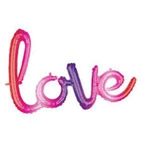 بالون كلمة  love  ملون