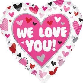 בלון מיילר 18- לבwe love youלבבות