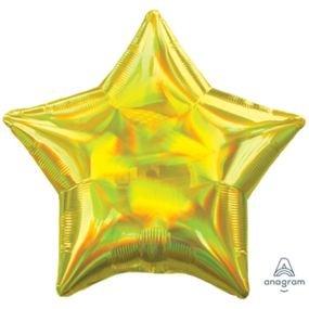 """بالون 18"""" نجمه اصفر لامع متغير الألوان"""