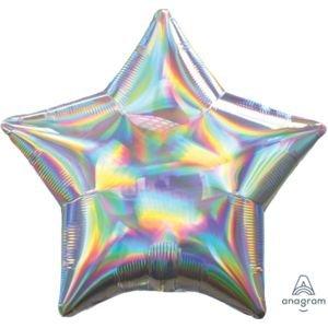 בלון מיילר 18- הולוגרפי צבעים מתחלפים כסוף כוכב