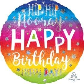 בלון מיילר 18 הולוגרפי - יום הולדת היפ הופ הוריי