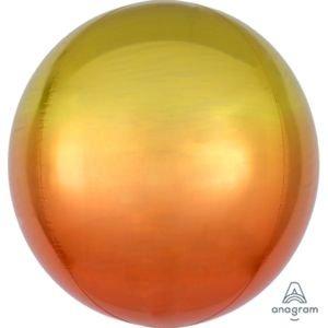 """بالون 15"""" ثلاثي الابعاد مدمج لون اصفر"""