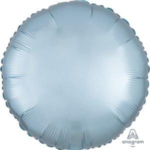 בלון מיילר 18- חלק עגול כחול פסטל מט כרום אנגרם