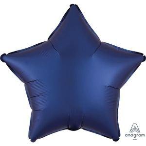 בלון מיילר 18- חלק כוכב כחול נייבי מט כרום אנגרם