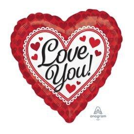 מיילר 18 love you מסגרת אדומה