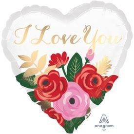 מיילר 18 לב זר בלונים - ורדים