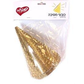כובע יום הולדת 6 יח - נקודות זהב