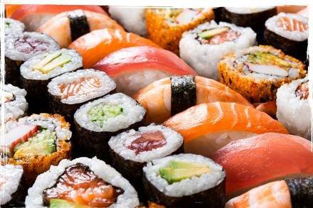 מבחר מנות סושי