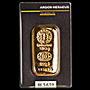 لوح صب الذهب من ارجور هيراوس - 100 جم  و هو  صنع سويسري