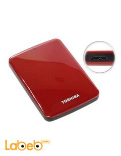 Toshiba Canvio Basic - 2TB - Hard Drive - USB3 External - Red color