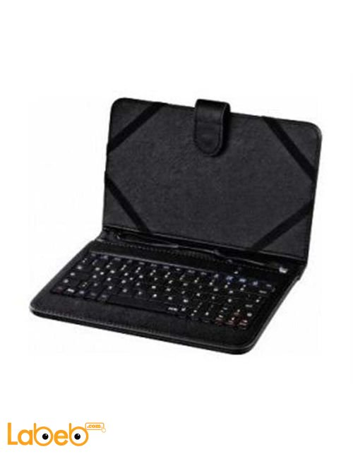 Hama OTG 7-inch Universal Keyboard Case Black color keyboard 50467