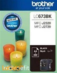 علبة حبر برازر - لون أسود - موديل LC673BK
