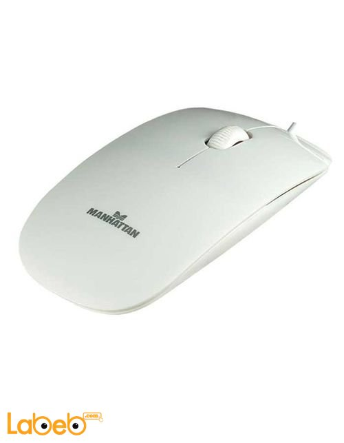 Manhattan Silhouette Optical Wired Mouse White color (177627)