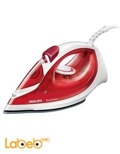 Philips EasySpeed 1200W Steam Iron - red color - model GC1017/26