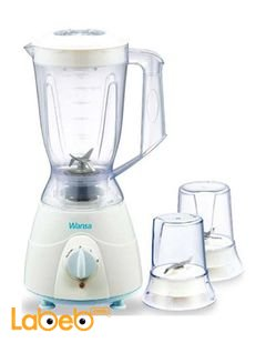 Wansa Blender 300 Watt 1.5 Litre - White color - model FB-2003