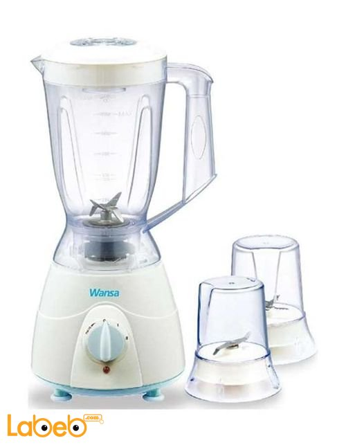 Wansa Blender 300 Watt 1.5 Litre White color model FB-2003
