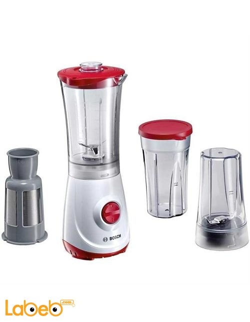 Bosch Liquidiser & Blender 350W White/Red model MMBM1P6RGB