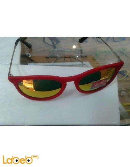 نظارات شمسية ريبان تقليد 1 اطار احمر عدسة صفراء RB 4171