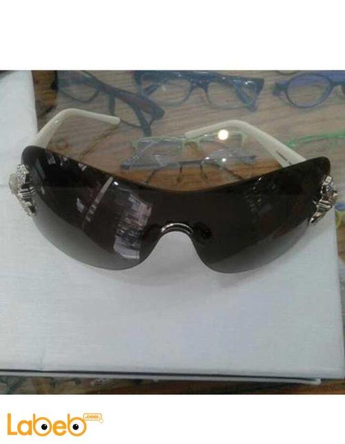 نظارات شمسيه جيفنشي تقليد 1 اطار ابيض عدسة سوداء