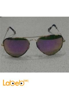Copy ray ban sunglasses - gold frame - purple lenses -copy 1
