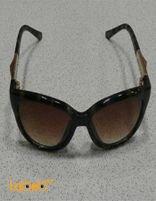 نظارات شمسية جوتشي تقليد 1 اطار اسود عدسة عسلية