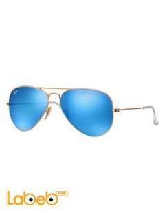 Original ray ban sunglasses - gold frame - blue lenses - RB 3025