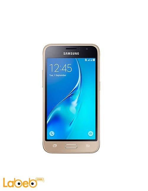 Gold Samsung Galaxy J1 (2016) smartphone