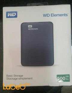 WD Elements Portable Hard Drive - USB 3.0 - 500GB - WDBUZG5000ABK