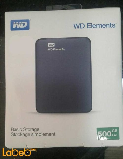 WD Elements Portable Hard Drive WDBUZG5000ABK 500GB
