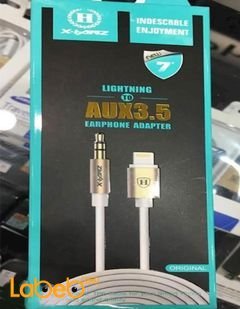lightning to aux3.5 earphone adapter - for iPhone 7- 1m - HD-A710