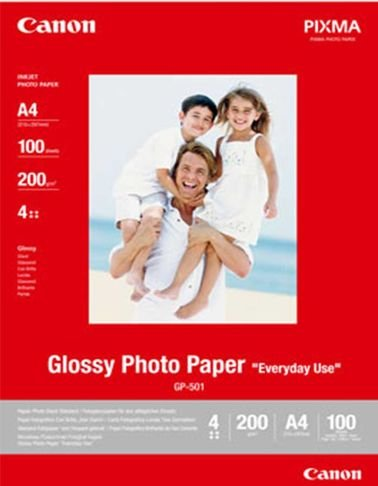 ورق لطباعة الصور الفوتوغرافية من كانون - 4 نجوم - موديل GP-501 A4