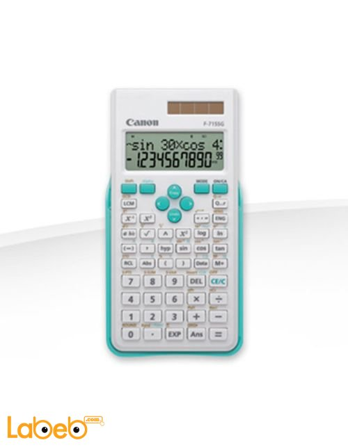 Canon calculator Up to 16 digit 2-line LCD display Blue F-715SG