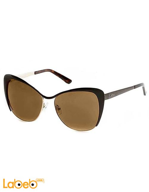 GUESS Sunglasses Brown Frame Brown Mirror Lenses 7422 Model