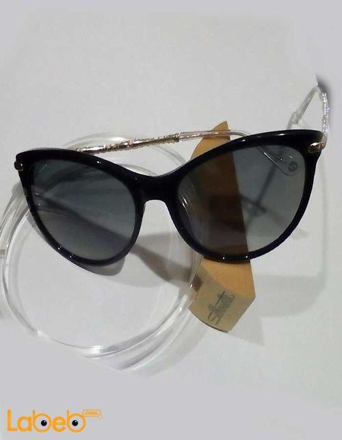نظارات شمسية جوتشي للنساء إطار أسود عدسة سوداء موديل 371