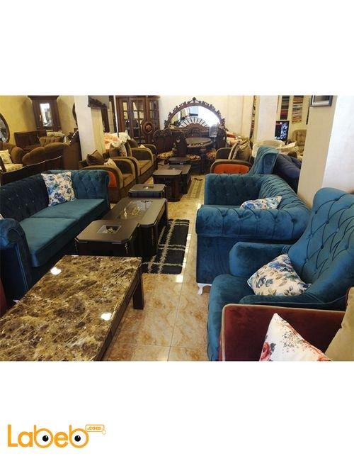 Sofa Set 7 seats Triple dual & 2 Individual Turquoise