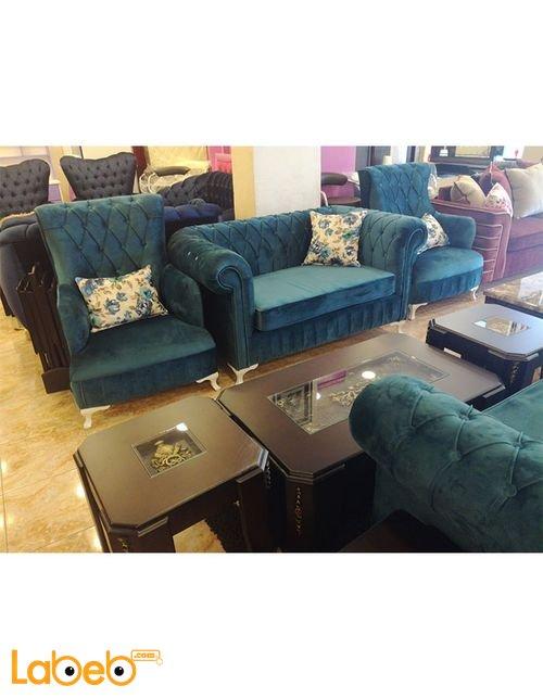 Sofa Set 7 seats Triple dual and 2 Individual Turquoise color
