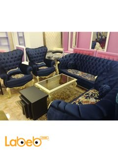 Sofa Set - 7 seats - Triple dual and 2 Individual - dark blue