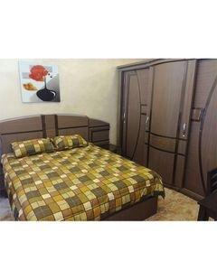 Bedroom - 7 pieces - Beech wood - Egyptian industry - Brown color
