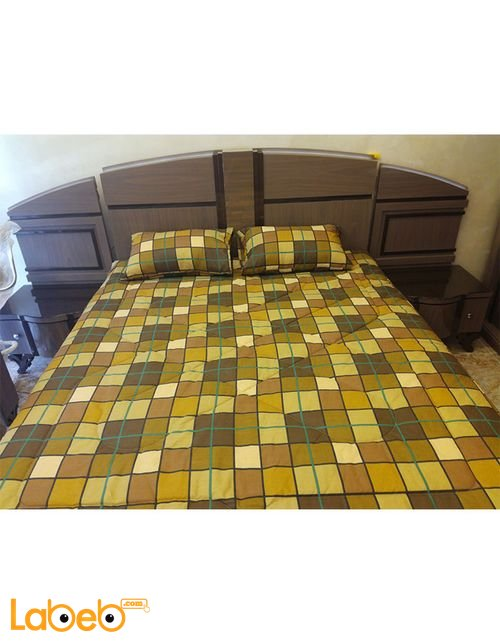 Bedroom include 7 pieces Beech wood Egyptian industry Brown color