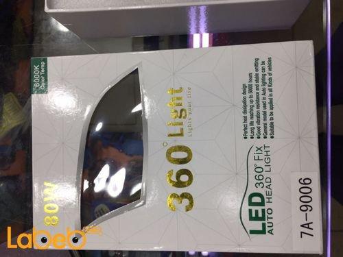 360°Light Auto Head Light 80Watt 7A-9006 model