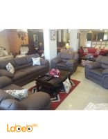 Fabric Sofa Set 4 pieces 7 seats Brown color
