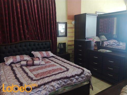 غرفة نوم مزدوجة 6 قطع بني غامق