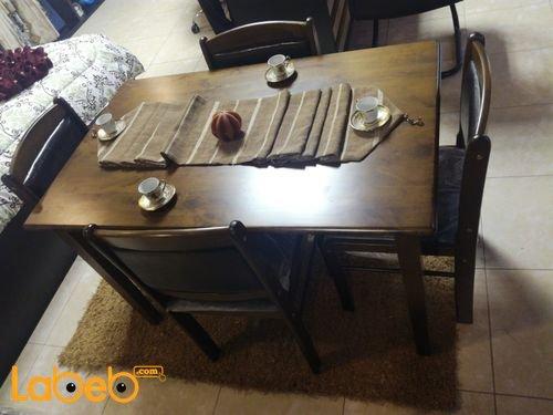 Dining table 4 seats Malaysian Wood Brown