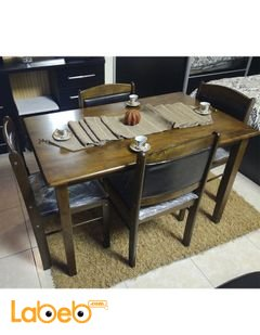 Dining table - 4 seats - Malaysian Wood - Brown color