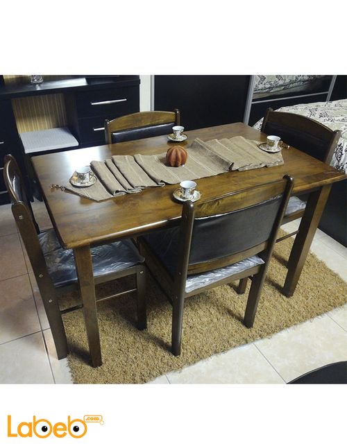 Dining table 4 seats Malaysian Wood Brown color