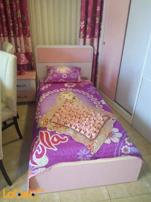 Single room For girls four pieces Latte Wood Pink & Purple